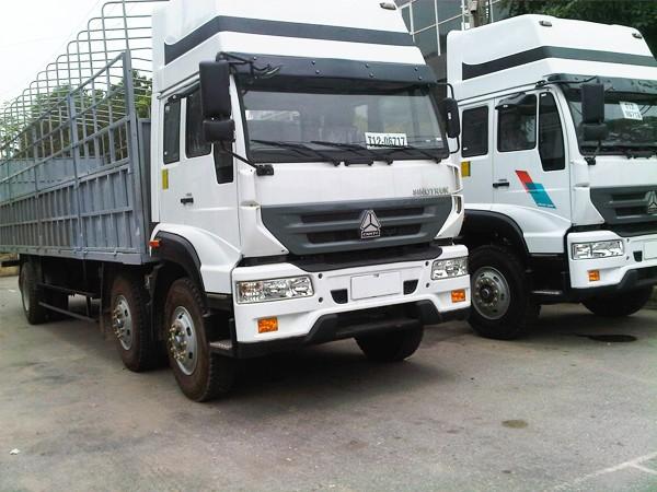 Xe tải howo 2 dí 1 cầu mang chất lượng tiên phong 1